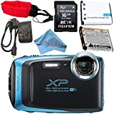 Fujifilm FinePix XP130 Digital Camera (Blue) #600019826 + Camera Floating Strap Lithium Ion Battery + Microfiber Cloth Bundle