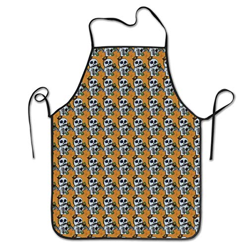 Man Personalized Apron for Kitchen Baker Baking Restaurant Cooking Chef Crafting Apron Sleeveless ()