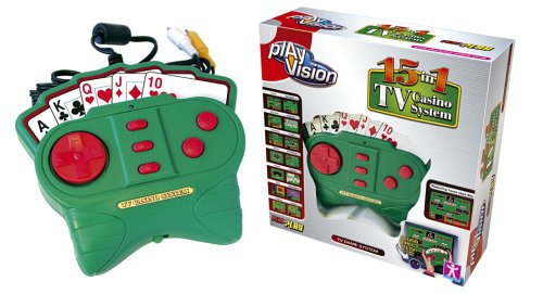 PlayVision 15-in-1 Plug-and-Play TV Casino System by Play Vision Vision-systeme Tv