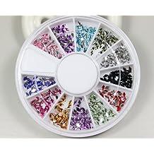 Brillantes Diamantes pequeños (estilo 12colores Uñas Arte Nailart manicura Ruedas