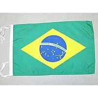BANDERA de BRASIL 45x30cm - BANDERINA BRASILEÑA 30 x 45 cm cordeles - AZ FLAG
