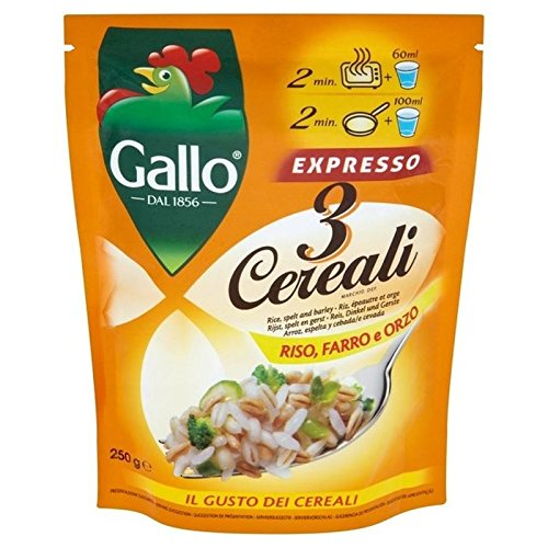 Riso Gallo Trois Grains Sachet 250G - Paquet de 2