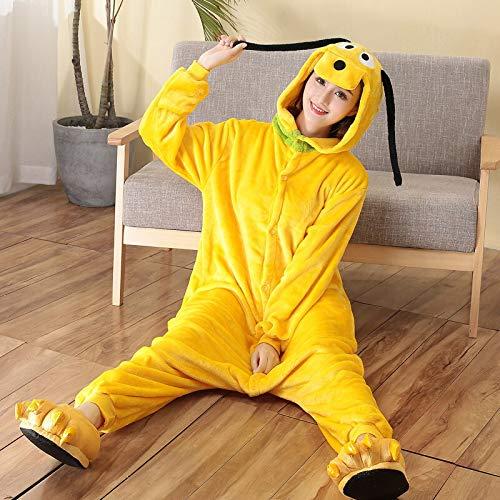 JIAWEIDAMAI Cartoon Pyjamas Goofy Dog Erwachsene Onesies Für Frauen Body Tier Cosplay Kostüm Unisex Nachtwäsche Halloween Pyjamas