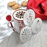Weihnachtskaffeeschablonen Duster - Schneeflocke
