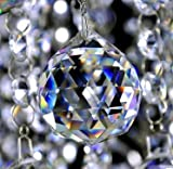 #9: Reiki Crystal Products Crystal Ball - Sun Catcher - Positive Energy and Good Luck Feng Shui Lamp Ball Prism Rainbow 40MM