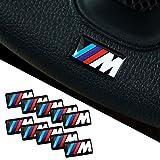 BMW M 3D Emblem Sticker Lenkrad, Felgen Aufkleber 10 Stück