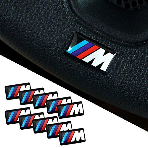 Preisvergleich Produktbild BMW M 3D Emblem Sticker Lenkrad,  Felgen Aufkleber 10 Stück
