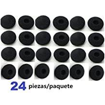37YIMU® 24 piezas/paquete Earbud almohadillas Almohadillas almohadilla recambio esponja cubre para el auricular, auriculares de MP3 MP4 Ipod Iphone Itouch Ipad