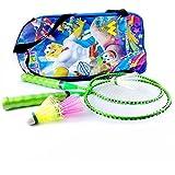 Elan BS-K-003 Badminton Racquet Set, Kids Pack of 3 (Green)