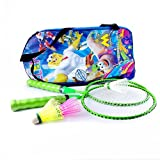 elan Toy Badminton Set for Kids, Attractive Fluorescent Colours for Boys and Girls
