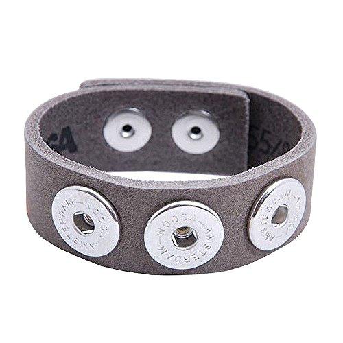 Noosa Armband classic skinny grey ohne Chunks, Größe:M