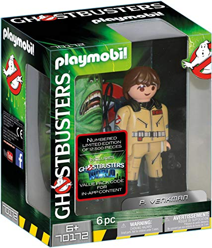 Playmobil- Ghostbusters Collectable Figure P. Venkman Toy, (geobra Brandstätter 70172)