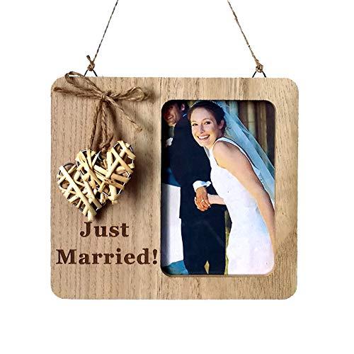 Verlobungsgeschenke Bilderrahmen für Hochzeits-Countdown - Days Awesome I Do Rustikale Wand- und Tischdekoration, Holzjubiläum Hochzeit Countdown Liebe Tafel Tisch Bilderrahmen (Tafel-hochzeits-countdown)