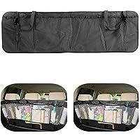MFEIR® Organizzatore di auto rimovibile tronco organizzatore Backseat Storage multi-tasca borsa Seggiolino pieghevole maglia titolare Pouch - Nero