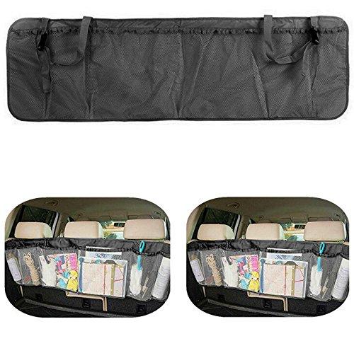 MFEIR® Abnehmbare Auto Kofferraum Organizer Rücksitz Multi-Tasche Lagerung Tasche faltbare Autositz Organizer Mesh-Halterung Tasche – Schwarz