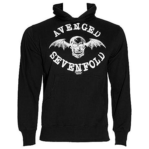 Avenged Sevenfold Logo Kapuzenshirt (Schwarz) - X-Large