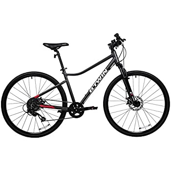 Btwin Riverside 500 Hybrid Bike Grey Red