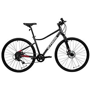 Btwin Riverside 500 Hybrid Bike Grey Red (L)