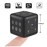 Hankermall Mini Hidden Spy Camera SQ16 1080P HD Nanny Cam Night Vision Portable Motion Detection FOV 90 Degree Sports Camera Mini DV Video Recorder for Indoor or Outdoor by Hankermall