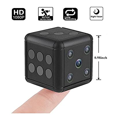 Hankermall Mini Hidden Spy Camera SQ16 1080P HD Nanny Cam Night Vision Portable Motion Detection FOV 90 Degree Sports Camera Mini DV Video Recorder for Indoor or Outdoor from Hankermall
