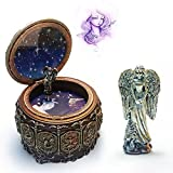 SO-buts the Zodiac Vintage LED Lights Windup Music Box with Statue,Gift for Girls Xmas Valentine's Day (Scorpio, 3.9x4.8 inches)