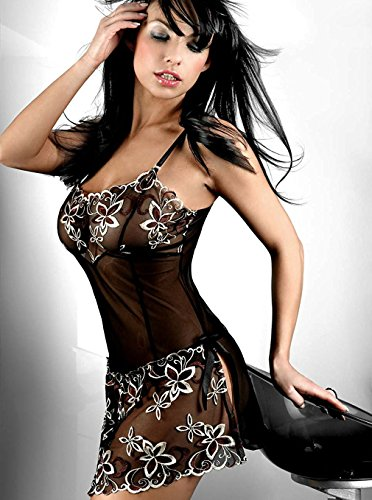 SheepRiver Donna Sexy Lingerie filato Hot T-back gonna cosplay Suit nightwear (Sheer Lingerie Set)