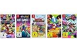 Mario Kart 8 Deluxe + Just Dance 2018 + Dragon Quest Builders + 1-2-Switch + Splatoon 2 [Nintendo Switch]