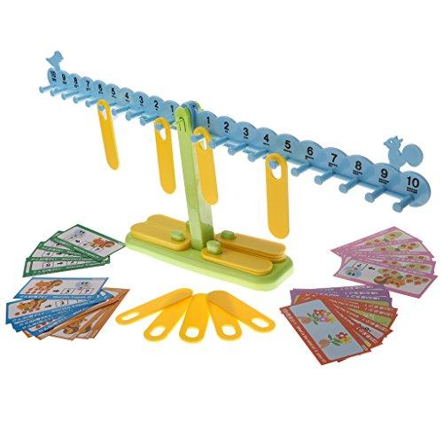 Baoblaze Juguete de Matemáticas de Plástico Juego de Equilibrio Intelectual para Niños