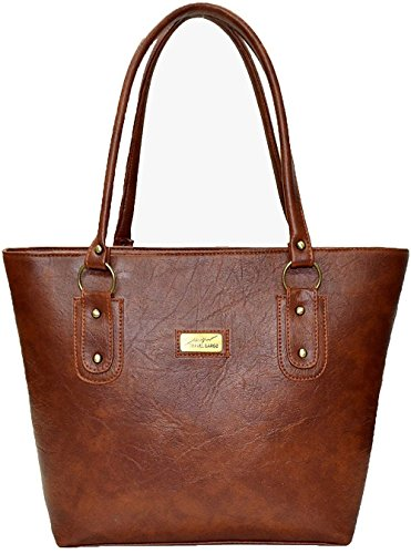 Mammon Women's Handbag Pu Leather Tan (Basic-tan, 40x30x10 CM)