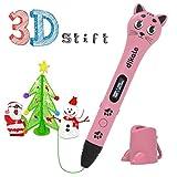 3D Stift Set für Kinder, 2 x 7.5M PLA Filament + 20 Seiten Schablonen für Kritzelei, Basteln, Zeichnung, Kunstwerk, einzigartige Geburtstags-und Weihnachtsgeschenke für Kinder und Erwachsene