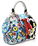 Irregular Choice Womens Andy's Toys Top-Handle Bag Blue (Blue/White)