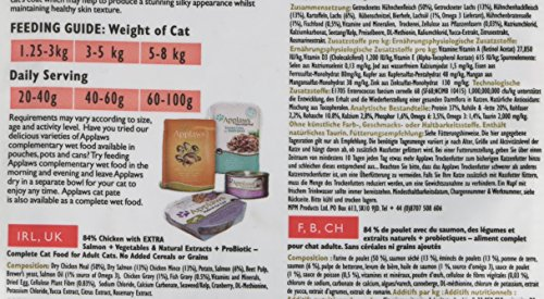Applaws Complete and Grain Free Dry Cat Food, Chicken with Salmon for Adult Cats, 400 g 2