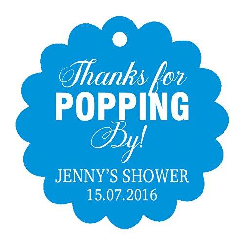 100 PCS-Baby-Dusche begünstigt Tags individuelles Angebot danken Ihnen für popping von Baby-Dusche Geschenk hängen Tags (Baby-dusche Ihnen Geschenke Danken)