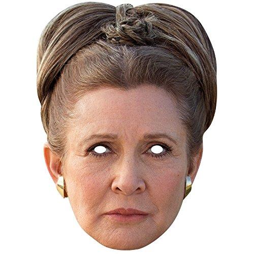 Generique Star Wars-Pappmaske Prinzessin Leia Hautfarben-Braun (Prinzessin Leia Und Han Solo Kostüm)