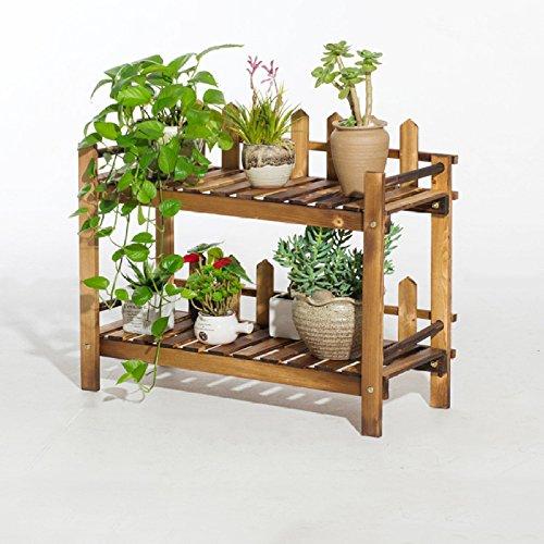 Support à Fleurs échelle en Bois Pot De Fleur Rack Jardin Terrasse Plante Stand Balcon étagère De Rangement Debout 2,Small(70cm)