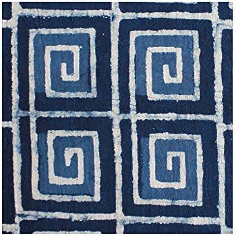 Geométrico impresión de la Indigo algodón plana Hoja de cama–King