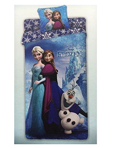 Frozen 6100 673 1060 Completo Letto, Cotone, Azzurro, 30 x 40 x 3 cm