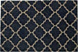 Flooring Direct Natural Coir Entrance Door Mats Suitable For Indoor And Outdoor Use 75cm x 45cm (Arabesque Navy)