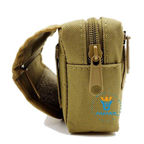 Multifunktions Survival Gear Tactical Beutel MOLLE POUCH Klettverschluss-Karte Tasche, Outdoor Camping Tragbare Travel Bags Handtaschen Werkzeug Taille Bag Handy Pouch KH