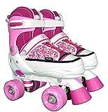 Best Sporting Rollschuhe, Größe verstellbar, ABEC 7 Carbon, pink-weiß, Farbe:pink/weiß, Größe:32-35