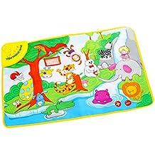 FEOYA - Alfombra de Juego Zoo Manta Musical con Sonidos Animales Electrónica Multifuncional Entrenamiento Actividad para Bebés niños