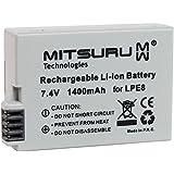 Mitsuru® 1400mAh batería para Canon LP-E8 LPE-8 LPE8 recambio para Canon EOS 550D 600D 650D Kiss T3i T4i X4