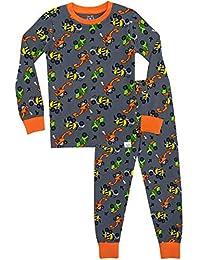 Harry Bear Pijamas de Manga Larga para niños Camiones Ajuste Ceñido
