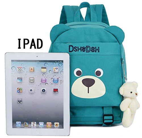 Imagen de  infantil niños guarderia perro oso animales algodón saco preescolar bambino bebes azul niño alternativa