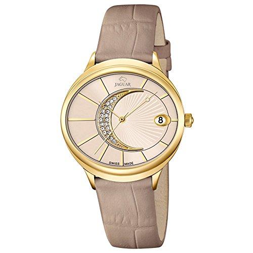 JAGUAR donna-Orologio da polso analog in pelle-Bracciale Fashion beige luenette-orologio quadrante crema UJ803/2