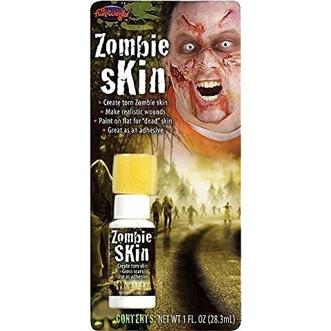 Mujer Hombre Látex Líquido Piel Falsa Halloween Zombie Muerto Efectos Especiales Maquillaje Disfraz