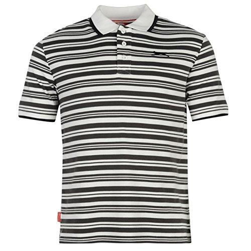 Slazenger Herren Poloshirt, Kurzarm Weiß/Grau