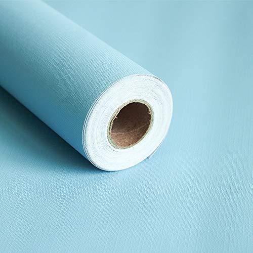 Lzymlg carta da parati autoadesivo diy parete decorativa adesivo carta da parati dal colore solido soggiorno soggiorno pvc spessa impermeabile cielo azzurro 45cm x 10m