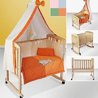 Infantastic® - BAWG01 - Cuna multifunción 3 en 1 - Incluye colchoneta, ropa de cama y dosel - Aprox. 84 x 48 x 74 cm - Diferentes colores a elegir