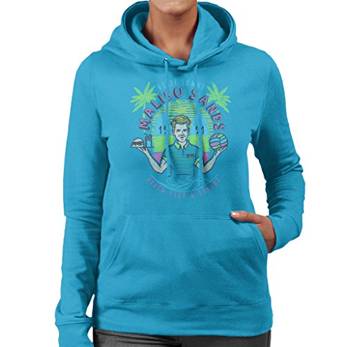 Saved By The Bell Malibu Sands Resort Women's Hooded Sweatshirt Sapphire